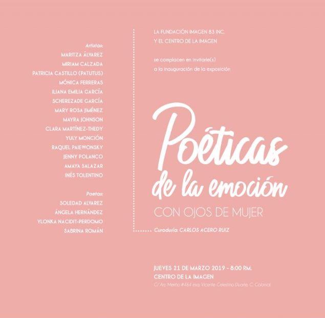 Poéticas de la emoción: con ojos de mujer
